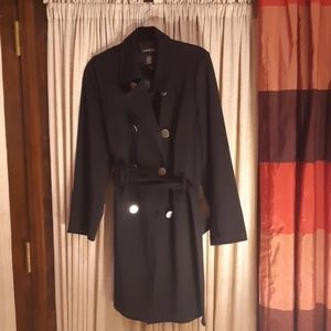 Black plus size coat